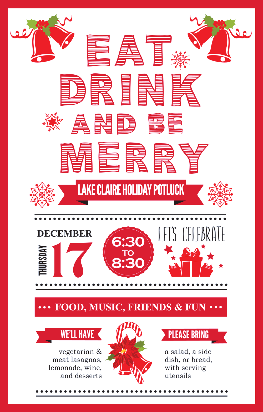 Lake Claire Holiday Potluck: 12/17 6:30 pm – Lake Claire Neighbors
